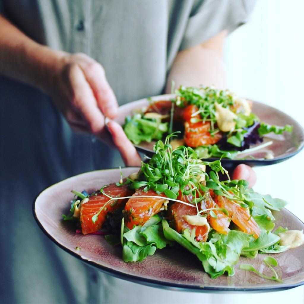 Salade van gemarineerde zalm.jpg